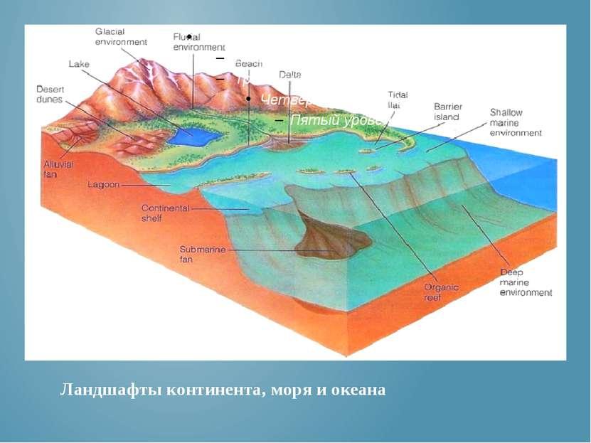Ландшафты континента, моря и океана