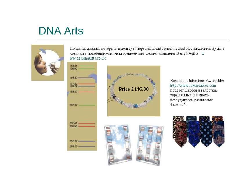 DNA Arts Появился дизайн, который использует персональный генетический код за...