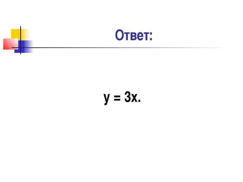Ответ: у = 3х.
