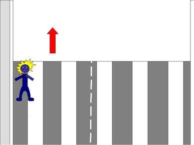 Если светофора нет, начиная переход, надо посмотреть налево, дойти до середин...