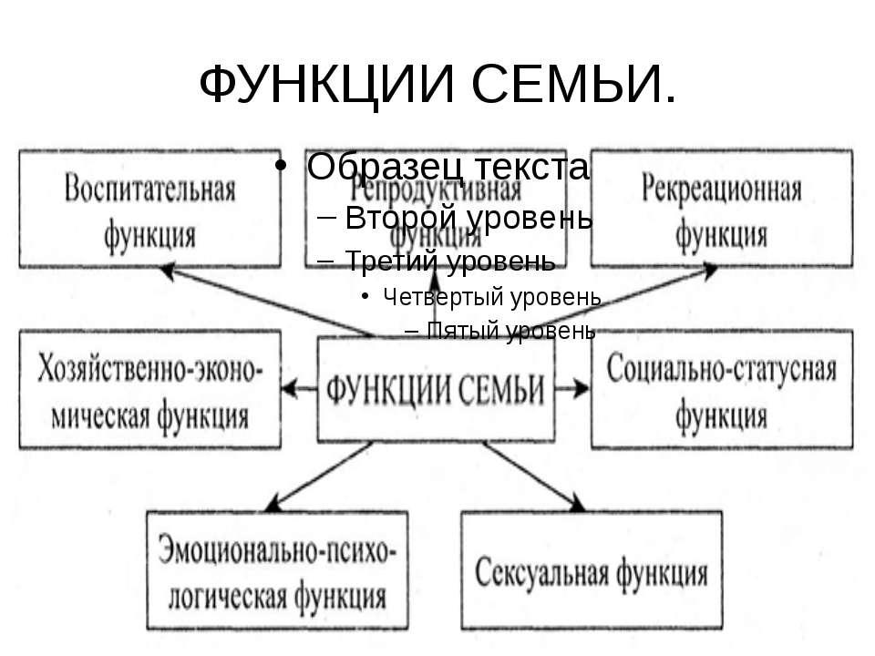 ФУНКЦИИ СЕМЬИ.