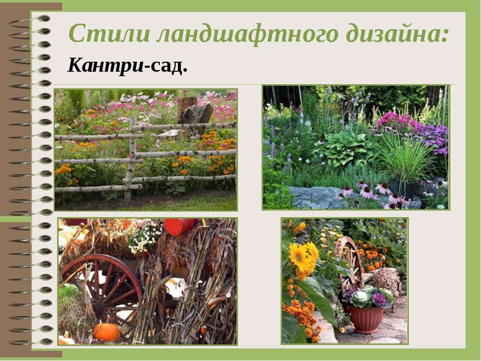 Стили ландшафтного дизайна: Кантри-сад.