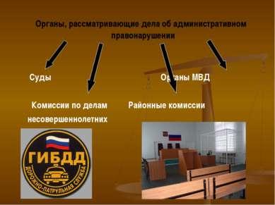Органы, рассматривающие дела об административном правонарушении Суды Органы М...