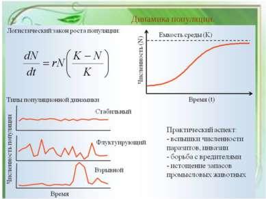 Динамика популяции.