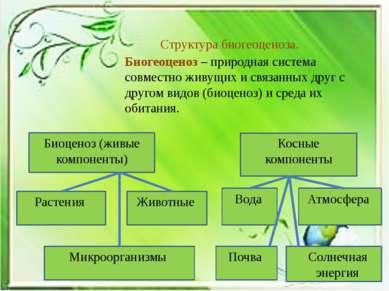 Биогеоценоз – природная система совместно живущих и связанных друг с другом в...