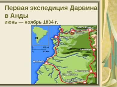 Первая экспедиция Дарвина в Анды июнь — ноябрь 1834 г.