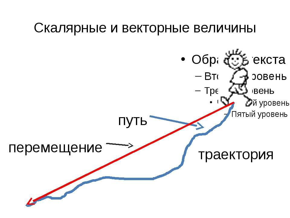 Скалярные и векторные величины траектория путь перемещение