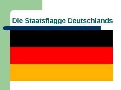 Die Staatsflagge Deutschlands
