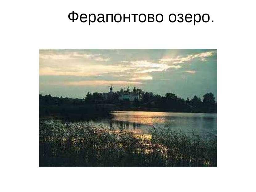 Ферапонтово озеро.