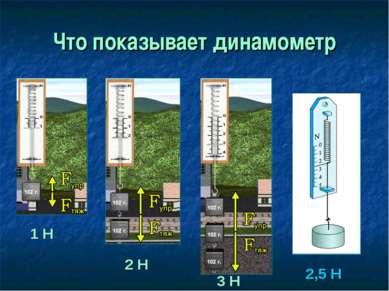 Что показывает динамометр 1 Н 2 Н 3 Н 2,5 Н