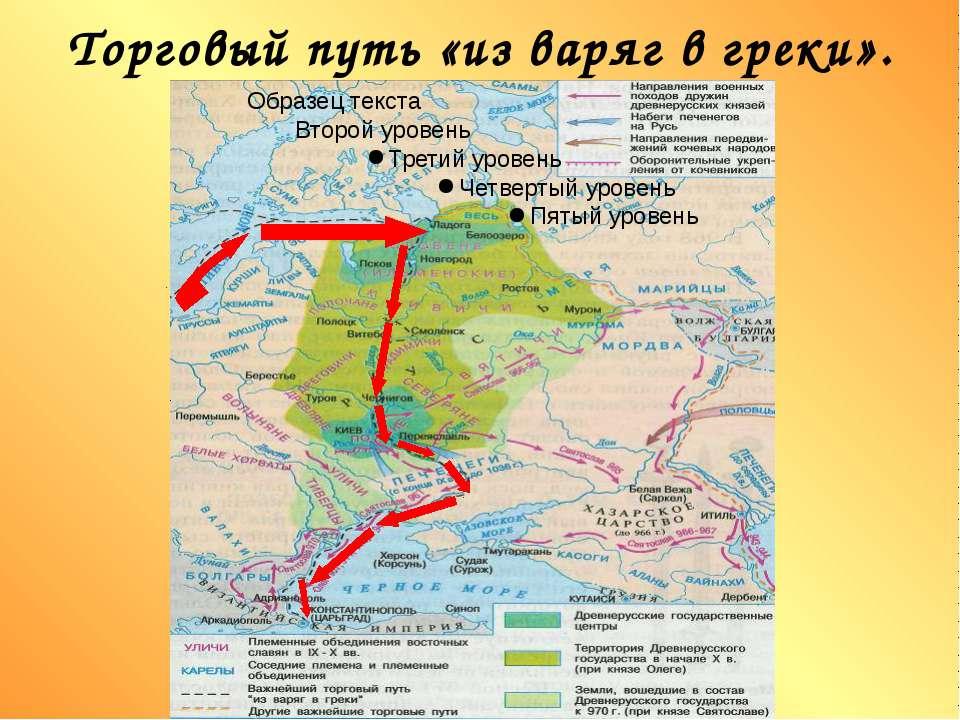 Торговый путь «из варяг в греки».