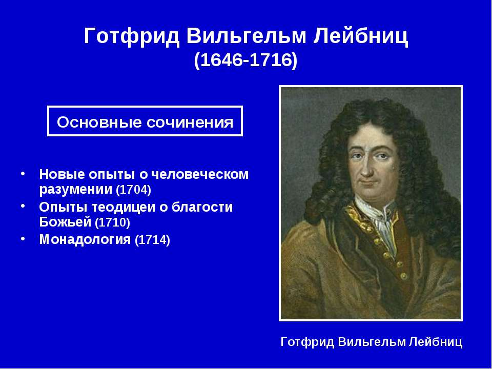 Готфрид Вильгельм Лейбниц (1646-1716) Готфрид Вильгельм Лейбниц Новые опыты о...
