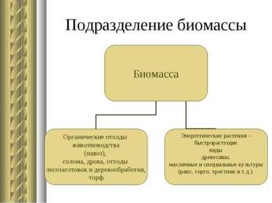 Подразделение биомассы