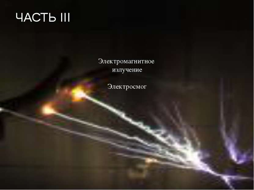 ЧАСТЬ III Электромагнитное излучение Электросмог