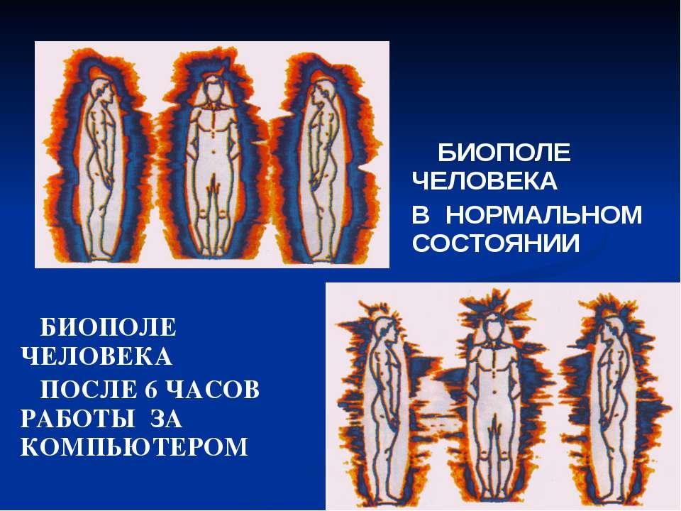 БИОПОЛЕ ЧЕЛОВЕКА ПОСЛЕ 6 ЧАСОВ РАБОТЫ ЗА КОМПЬЮТЕРОМ БИОПОЛЕ ЧЕЛОВЕКА В НОРМА...