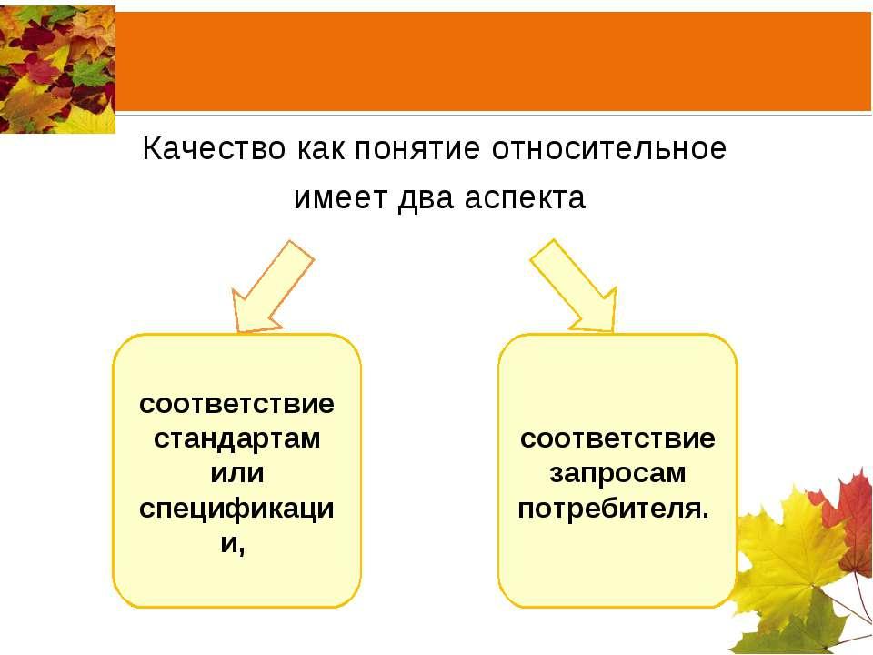 соответствие стандартам или спецификации, соответствие запросам потребителя. ...