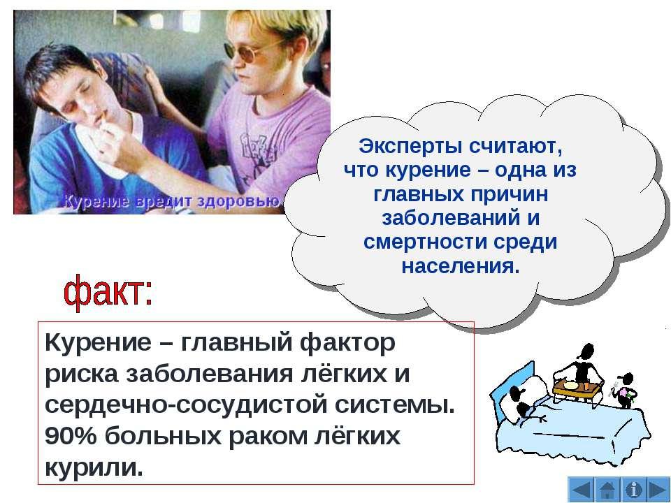 Эксперты считают, что курение – одна из главных причин заболеваний и смертнос...