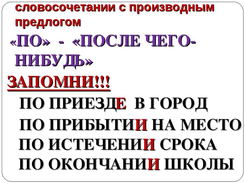 Нарушение управления в словосочетании с производным предлогом «ПО» - «ПОСЛЕ Ч...