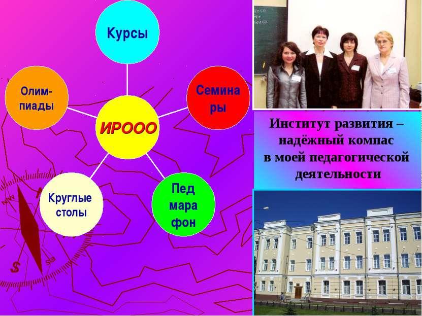 Институт развития – надёжный компас в моей педагогической деятельности