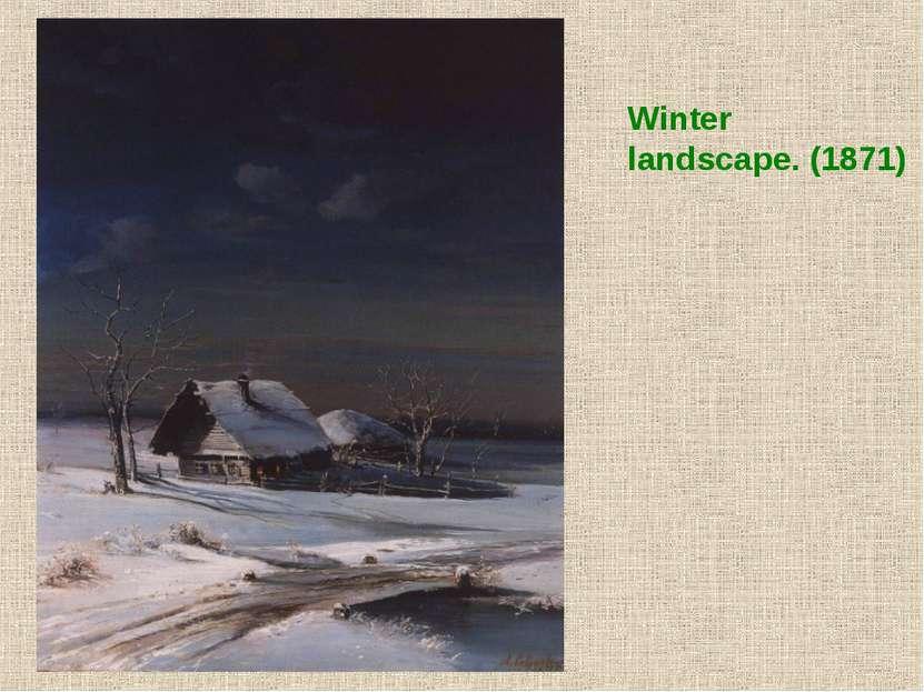 Winter landscape. (1871)