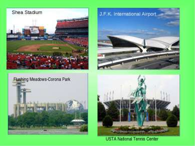 Flushing Meadows-Corona Park J.F.K. International Airport Shea Stadium USTA N...