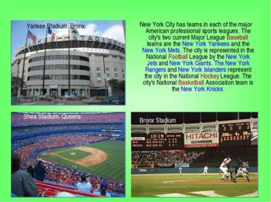 New York City has teams in each of the major American professional sports lea...