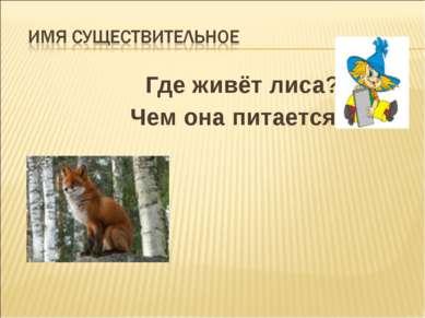 Где живёт лиса? Чем она питается?
