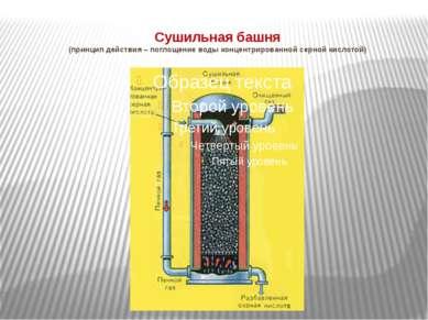 Сушильная башня (принцип действия – поглощение воды концентрированной серной ...