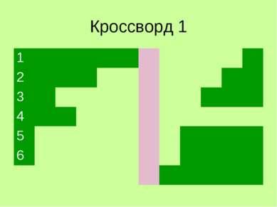 Кроссворд 1 1 2 3 4 5 6