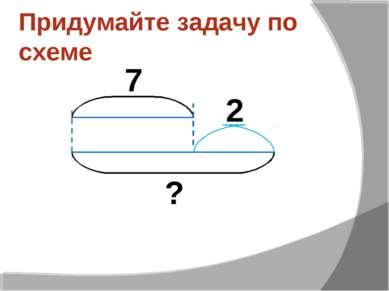 Придумайте задачу по схеме ? 7 2