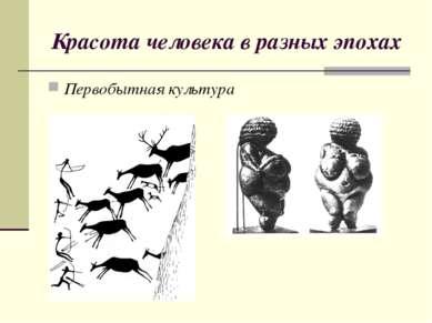 Красота человека в разных эпохах Первобытная культура