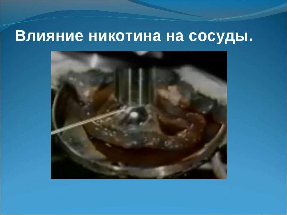 Влияние никотина на сосуды.