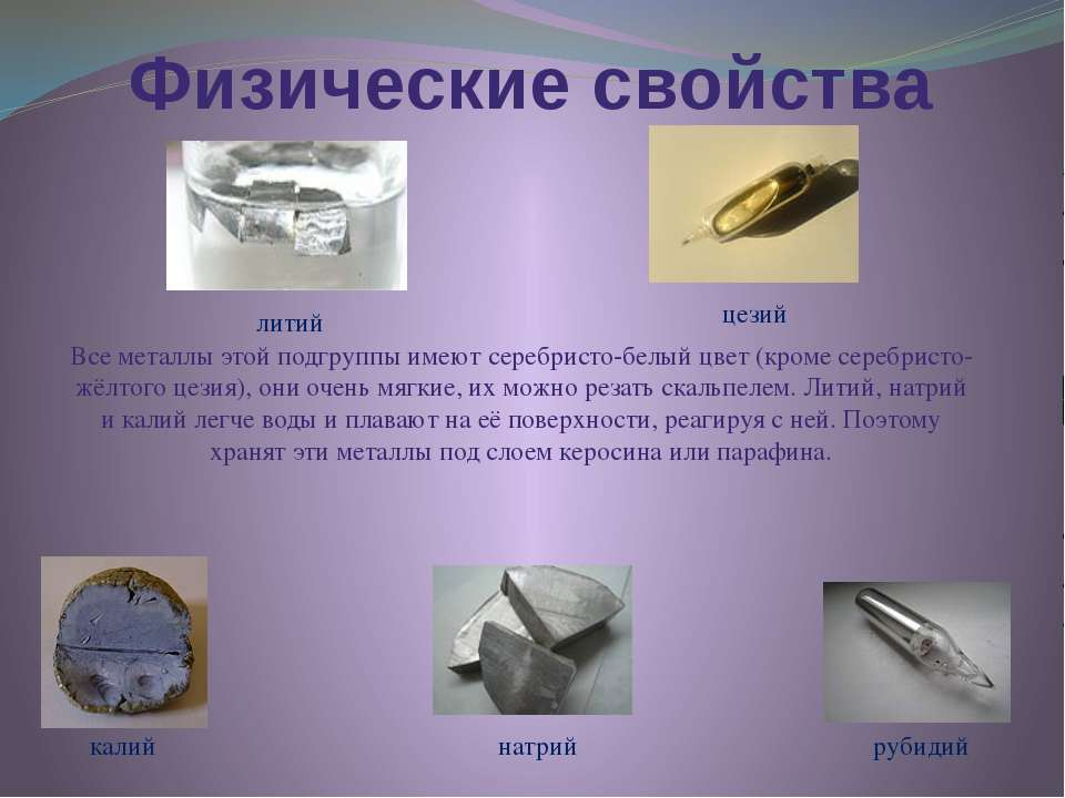 Физические свойства Все металлы этой подгруппы имеют серебристо-белый цвет (к...