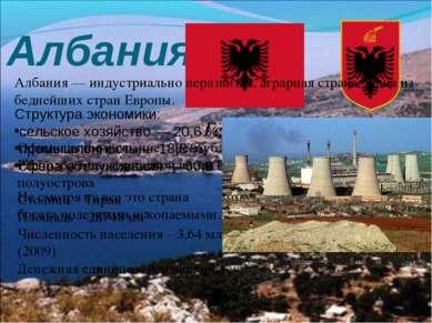 Албания Герб и флаг Албании Официальное название – Республика Албания Располо...