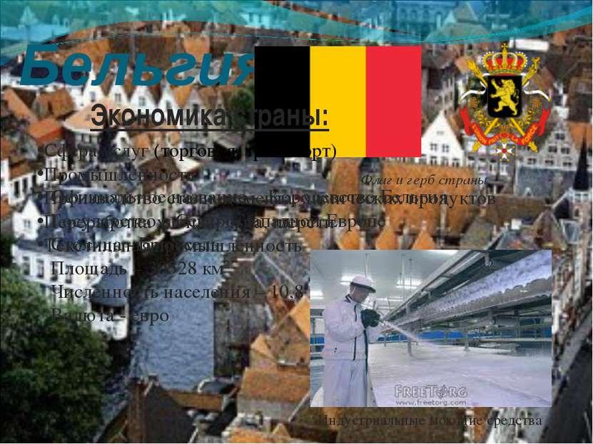 Бельгия Флаг и герб страны Официальное название - Королевство Бельгия Государ...