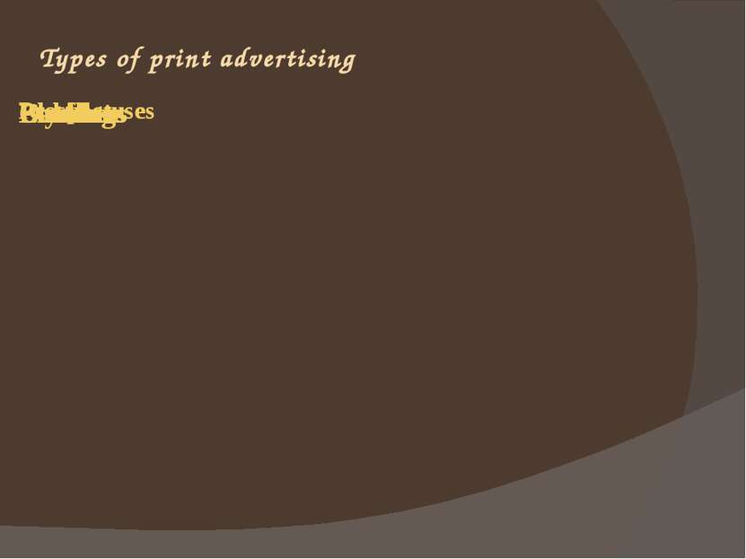 Types of print advertising