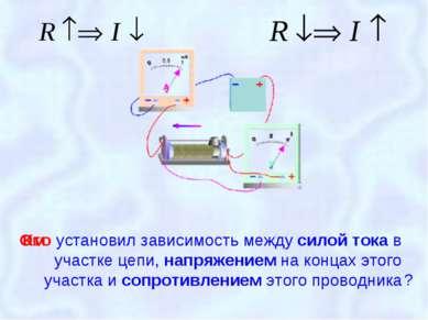 установил зависимость между силой тока в участке цепи, напряжением на концах ...