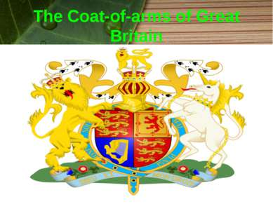 The Coat-of-arms of Great Britain