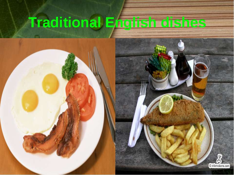 Traditional English dishes