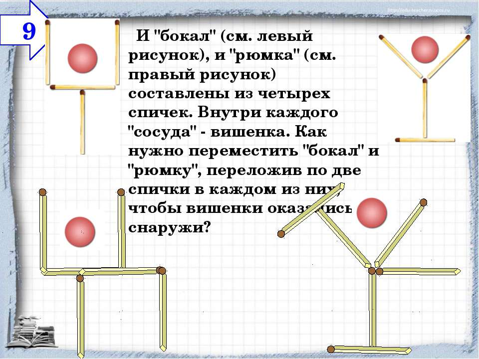 """И """"бокал"""" (см. левый рисунок), и """"рюмка"""" (см. правый рисунок) составлены из..."""