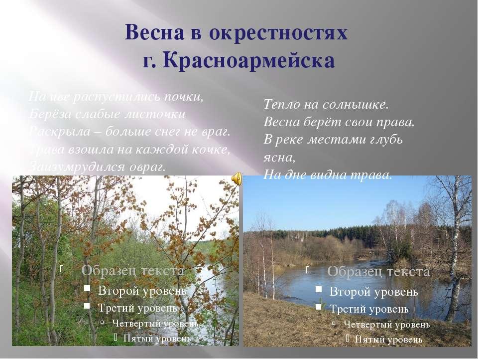 Весна в окрестностях г. Красноармейска