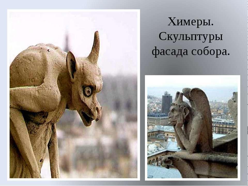 Химеры. Скульптуры фасада собора.