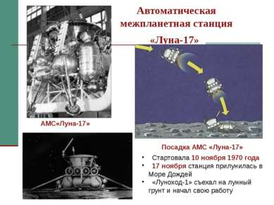 Автоматическая межпланетная станция «Луна-17» Стартовала 10 ноября 1970 года ...