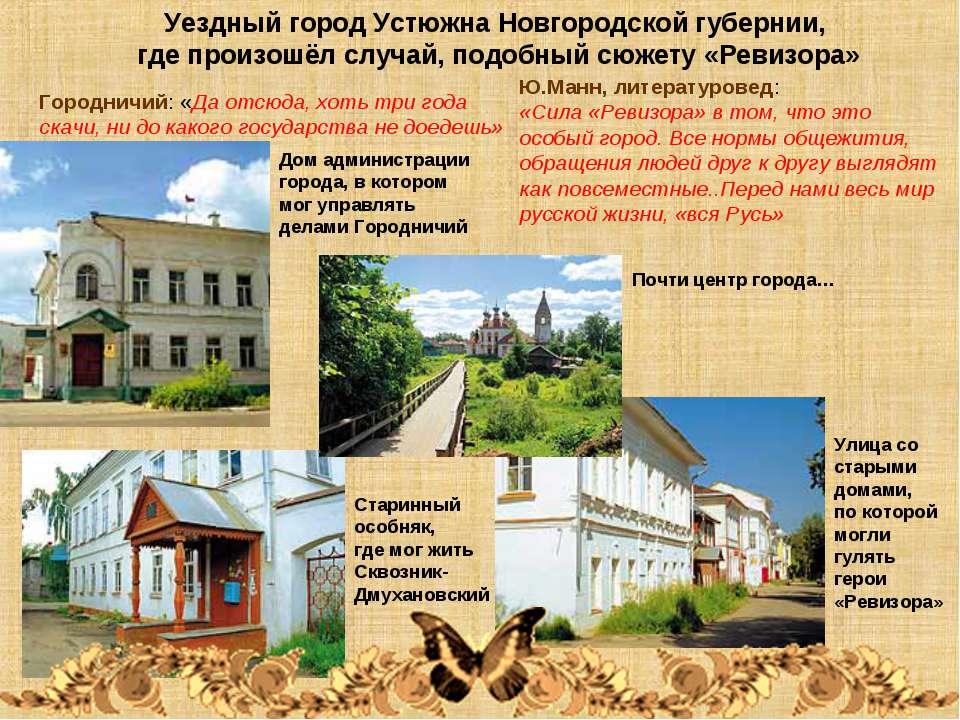 Уездный город Устюжна Новгородской губернии, где произошёл случай, подобный с...