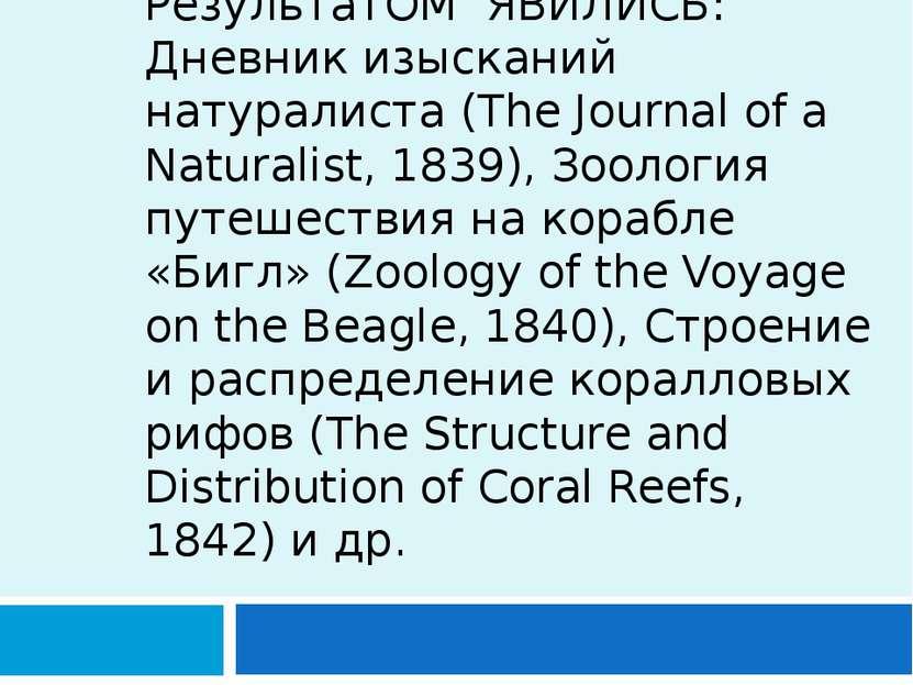 РезультатОМ ЯВИЛИСЬ: Дневник изысканий натуралиста (The Journal of a Naturali...