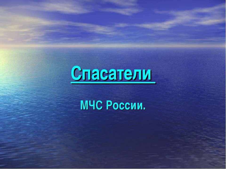 Спасатели МЧС России.