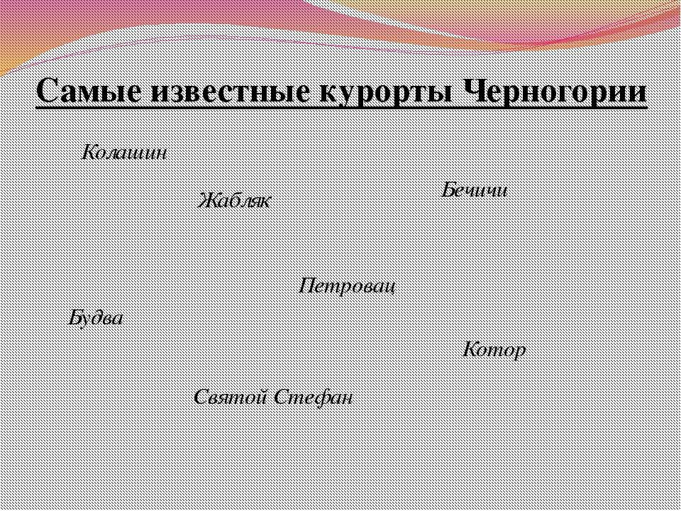 Самые известные курорты Черногории Колашин Жабляк Будва Котор Бечичи Святой С...