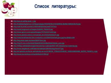 Список литературы: 20. http://pus.at.ua/flax-seed_1.jpg 21. http://totalbeaut...