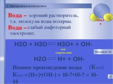 Механизм электролитической диссоциации NaCl Разрушение кристаллической решетк...
