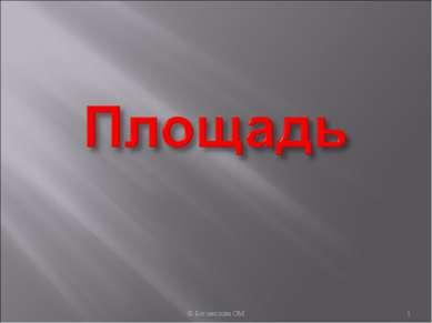 * © Богомолова ОМ © Богомолова ОМ